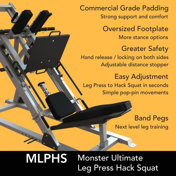 Force USA Monster Ultimate Leg Press Hack Squat Combo-4