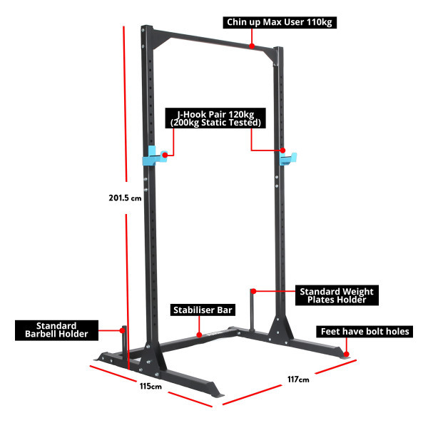 Force USA Home Half Rack, Squat Stand and Chin Up-2