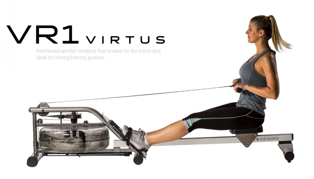 Pure Design VR1 Vitrus Water Rowing Machine - Demo-1