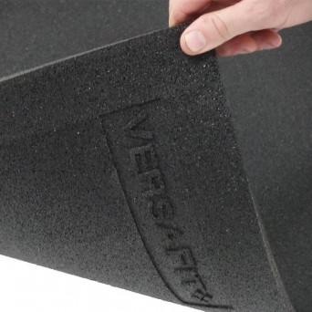 VersaFit Black Commercial Rubber Flooring Tile 1M X 1M X 15MM