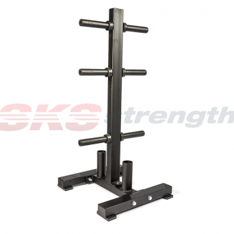 SKS Strength Olympic Weight Tree and Barbell Holder Commercial Grade