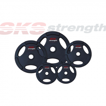 SKS Strength 165 Kg Barbell and Rubber Coated Weight Package