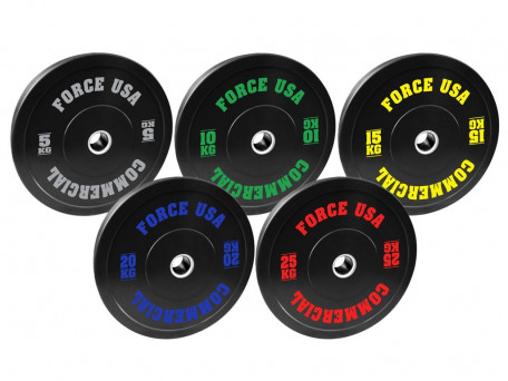 Force USA Ultimate Training Bumper Plate 5Kg to 25Kg