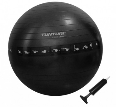 Tunturi 65cm Anti-Burst Exercise Ball with Pump